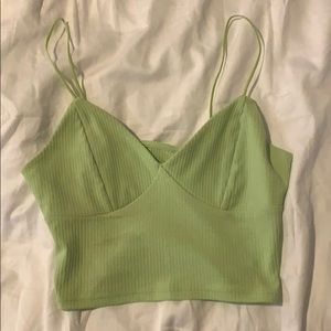 Really cute green crop top